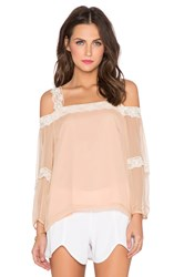 Amanda Uprichard Dakota Lace Top Preach