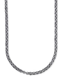 Esquire Men's Jewelry Antique Look Double Rolo Chain Necklace In Sterling Silver First At Macy's