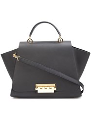 Zac Posen 'Eartha Iconic Top Handle' Tote Black