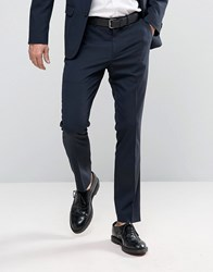 New Look Slim Suit Trousers In Navy Mid Blue