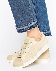 Adidas Originals Khaki Superstar 80S Trainers Linen Khaki S17 Green