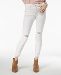 American Rag Juniors' Ripped Skinny Jeans Created For Macy's White