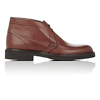 Barneys New York Men's Leather Chukka Boots Brown Size 6 M