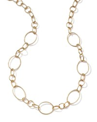 18K Gold Glamazon Link Necklace With Seven Ovals 17' Ippolita