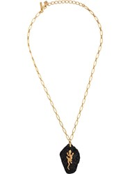 Oscar De La Renta Lizard Pendant Necklace Gold