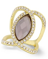 Inc International Concepts Pave Crystal Statement Ring Only At Macy's Grey