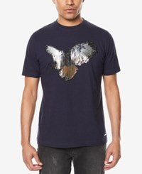 Sean John Men's Metallic Studded Eagle T Shirt Night Sky