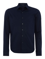 Replay Stretch Popeline Shirt Blue