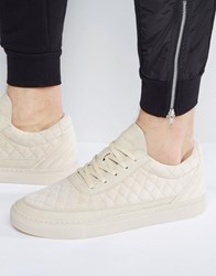 Cayler And Sons Chutoro Quilted Trainers In Stone Beige