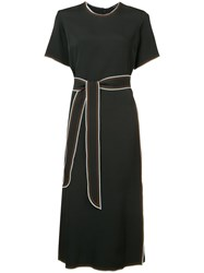 Derek Lam Tie Fastening Shift Dress Women Viscose 38 Black