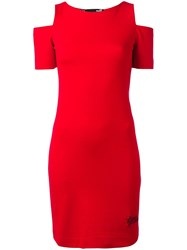 Love Moschino Slit Sleeves Fitted Dress Red
