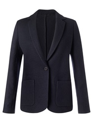 Jigsaw Knit Tailoring Jacket Navy