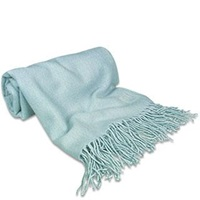 Forzieri Powder Blue Pashmina Shawl Baby Blue