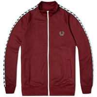 Fred Perry Laurel Taped Track Jacket Maroon