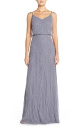 Women's Candela 'Marseille' Beaded Blouson Gown Slate