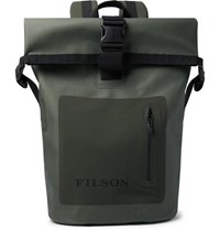 Filson Dry Waxed Canvas Roll Top Backpack Green