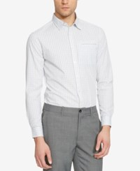Kenneth Cole Reaction Men's Check Long Sleeve Shirt Bluejaycmb