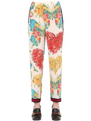 Gucci Floral Printed Silk Cady Crepe Pants