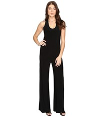 Norma Kamali Racer Jumpsuit Black Women's Jumpsuit And Rompers One Piece