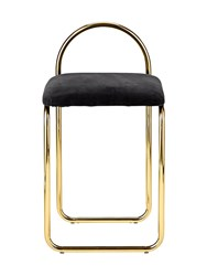 Aytm Angui Iron And Padded Cotton Chair Black Gold
