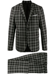 Neil Barrett Checked Suit Black