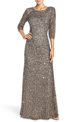 Adrianna Papell Women's Sequin Mesh Gown Lead