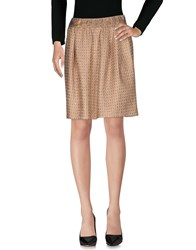 Atos Lombardini Knee Length Skirts Copper