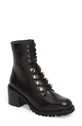 Seychelles 'S Make It Count Lace Up Boot Black Leather