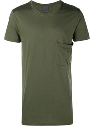 Lot 78 Lot78 Crew Neck Cotton T Shirt With Chest Pocket Green