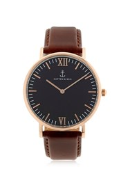 Kapten And Son 40Mm Leather Watch