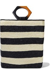 Eugenia Kim Woman Margaux Leather Trimmed Striped Straw Tote Ivory