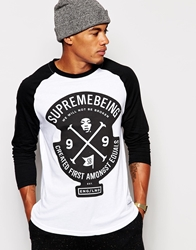 Supreme Being Supremebeing Pitch Raglan Long Sleeve T Shirt White