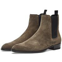 Saint Laurent Wyatt 30 Boxer Chelsea Boot Grey