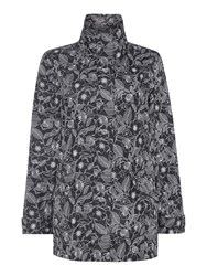 Tigi Floral Bonded Coat Black Multi