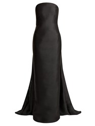 Gabriela Hearst Joaquina Strapless Silk Blend Gown Black