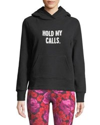 Kate Spade Hold My Calls Cotton Hoodie Black