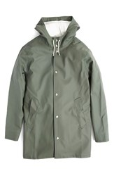Men's Stutterheim 'Arholma Green' Waterproof Hooded Raincoat