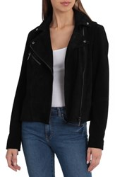 Bagatelle Suede Biker Jacket Black