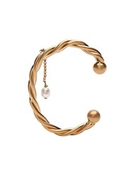 J.W.Anderson Jw Anderson Gold Twisted Pearl Bangle