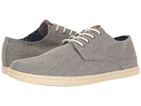 Ben Sherman Parnell Oxford Grey Linen Men's Lace Up Casual Shoes Black