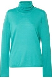 Max Mara Wool Turtleneck Sweater Turquoise