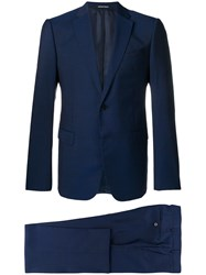 Emporio Armani Single Breasted Suit 920 Blue