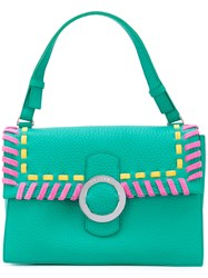 Orciani Ethnic Tote Women Cotton Calf Leather One Size Green