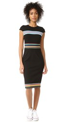 Diane Von Furstenberg Hadlie Dress Black Multi