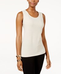 Jm Collection Jacquard Tank Top Only At Macy's Stone