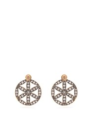 Noor Fares Diamond Moonstone And Yellow Gold Earrings