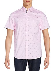 Report Collection Regular Fit Anchor Print Cotton Sportshirt Pink