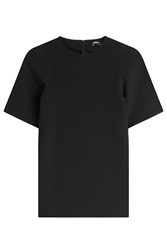 Jil Sander Navy Cotton Top Black