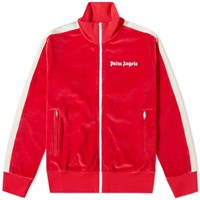 Palm Angels Chenille Track Jacket Red