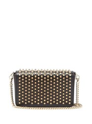 Christian Louboutin Zoomi Studded Leather Clutch Black Gold